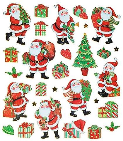 30 tlg. Set Aufkleber / Sticker - Weihnachtsmann Weihnachtsbaum Weihnachten