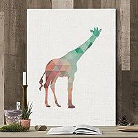 MINRAN DECOR A Premium Kunstdruck Wand-Bild – Giraffe CP005 – Leinwand-Druck – Leinwand-Bilder auf Holz-Keilrahmen als moderne Wanddekoration, A, 50*60CM