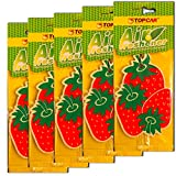 #8: TOPCAR - Hanging Car Perfume Air Freshener (Set of 5 Pieces of Single Flavor) (Strawberry)
