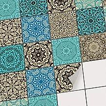 Fliesen Deko Fliesenaufkleber Für Küche U. Bad | Fliesenfolie  Fliesensticker Klebefliesen Mosaikfliesen Dekorfolie | 10x10