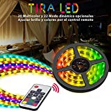 Tiras LED RGB Vorstek Led Luces Impermeable Multicolor 5050 SMD Led Strip Kit 2M con Mando a...