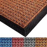 Schmutzfangmatte All Seasons für außen und innen | gepunktete Prägestruktur | Fußmatte mit sehr guter Schmutzfang Wirkung | viele Größen und Farben (braun 60x90 cm)