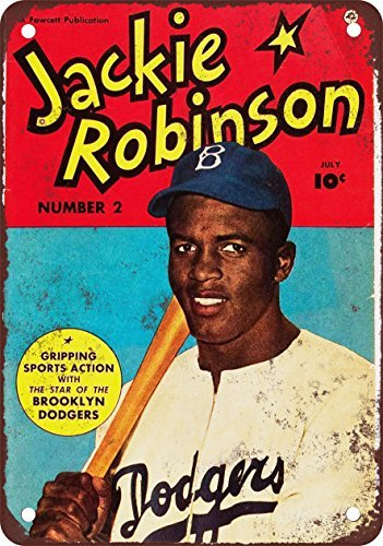 Metal Poster with Design by Jackie Robinson Comic by 1950, DE 20 x 30 cm, 2 Units