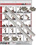 POWRX Kurzhantelstange 2er Set I 35 cm, 38 cm oder 40 cm verchromt und gerändelt I Ø 3 cm Gewinde mit Sternverschluss (40 cm x 30 mm)
