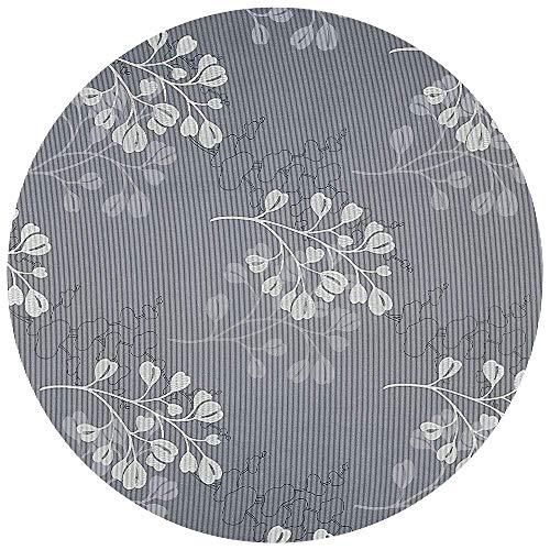 DecoHomeTextil Gartentischdecke Tischdecke Capri Miami 3D Druck mit Einfassband Softschaum Farbe & Größe wählbar Rund 160 cm Grau Anthrazit Lebensmittelecht Outdoor Frühling Sommer 2019 -