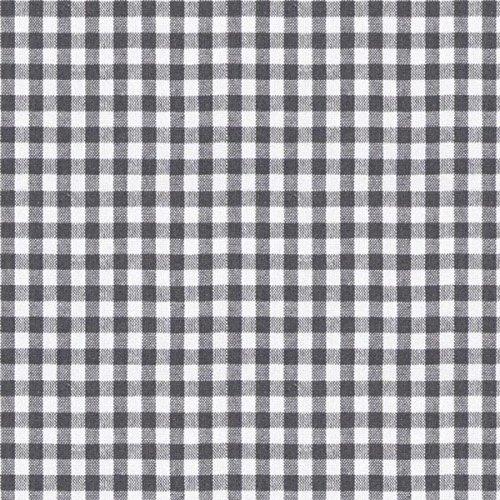 (Fabulous Fabrics Baumwollstoff Vichy 0,5 cm, 17 grau — Meterware ab 0,5m — zum Nähen von Kissen, Tischdecken und Freizeitkleidung)