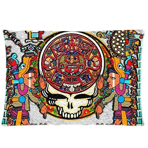 andersonfgytyh Band Grateful Dead Tie Dye Pattern Soft Pillow case Cover 20*30 Inch (Twin sides)Zippered Pillowcase