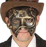 Maschera steampunk effetto oro antico