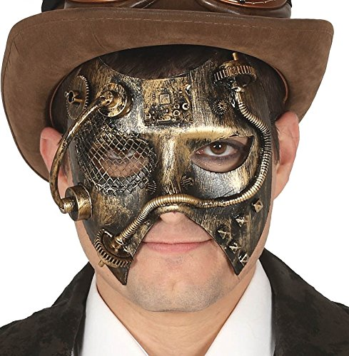 Angel Steampunk Kostüm - Maske Steampunk antiken Goldeffekt