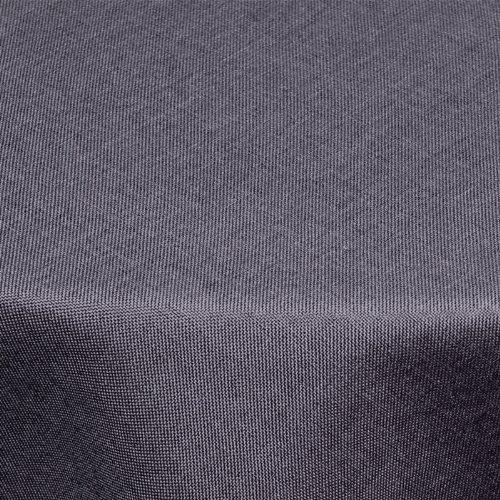 inen-Optik 140cm rund mit FLECK-Schutz grau *wasserabweisend* Farbe wählbar ()