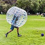 Longspeed 1,2 m Durchmesser PVC Aufblasbare Blase Kollisionsstoßstange Buffer Ball Human Knocker Für Erwachsene Outdoor-Laufsportspiel Zorb Ball - Blau