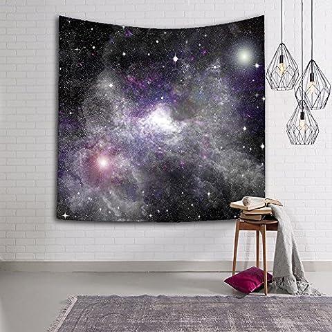 auykoop Wand Gobelin–Universe Star Sky Fabric Wall hängende Dekoration Decken Raum Betten Sofa Mats, #9, 150x102cm