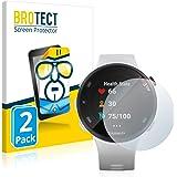 BROTECT 2x Schermbeschermer compatibel met Garmin Forerunner 45S Screen protector transparant