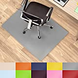 Office Marshal® Coloured Office Chair Mat - Grey, 120x150cm (4'x5') - Multipurpose Floor Protection - Size and Colour Selectable