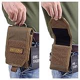OneTigris Molle Taktische Handytasche Schutztasche für iPhone6/iPhone 6 plus/iPhone 6s/iPhone 6s plus, Klettverschluss (Braun) -