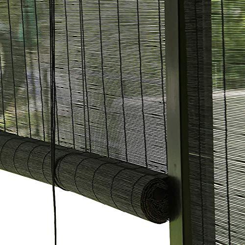 Bamboo Roller Shades-Reed Jalousien, wasserdicht feuchtigkeitsbeständige natürliche dekorative Stroh Vorhänge, für Outdoor/Indoor/Garten (Reed Jalousien)