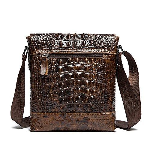 Modelshow Uomo coccodrillo pelle olio pelle Casuale Daypacks fionda Borsa Messaggero Borsa borsa ventiquattrore (caffè) caffè