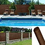 ProBache - Brise vue renforcé 1 x 10 m marron 220 gr/m² luxe pro