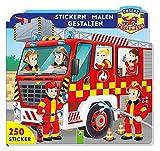 Unsere Feuerwehr - Stickern • Malen • Gestalten: Mit 250 Stickern