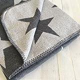 Pad - Decke - Kuscheldecke - Wohndecke - Stars - Grey/Grau - 150 x 200 cm
