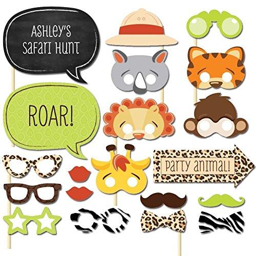 azlife Animal Photo Booth Props DIY Kit, Foto Zubehör und Dekoration für Geburtstag Hochzeit uns Familientreffen (20Stück)