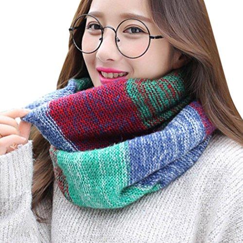 OverDose Rundschal, Mode Frauen Warm Knit Hals Kreis Cowl Snood mehrzweck Schal O-Ring Schal Deckenschal Halstuch (Knit Cashmere Top)