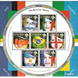 Gibraltar 1158 Sheetlet (completa.edición.) 2006 fútbol WM Alemania (sellos para los coleccionistas)