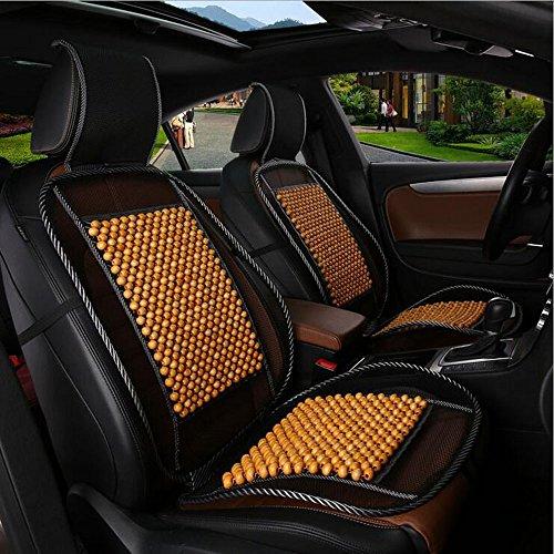HomDSim, 1 coprisedile universale alla moda per auto, con perline di legno, fresco e rinfrescante, adatto per l'estate Stivaletti da pioggia zebrati - Bamb