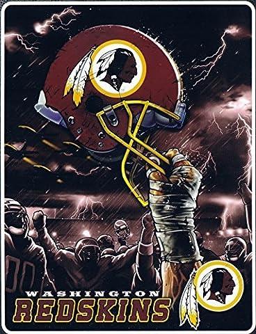 Washington Redskins Plush Raschel 60x80 Twin Size Throw Blanket by Northwest
