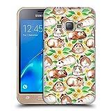 Offizielle Micklyn Le Feuvre Meerschweinchen Und Gänseblümchen Und Aquarell Muster 2 Ruckseite Hülle für Samsung Galaxy J1 (2016)