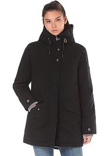 34f6b2eb5e579 Lakeville Mountain Damen-Mantel TAUANUI | Weich gefütterte Winter-Jacke mit  Kapuze und modischen