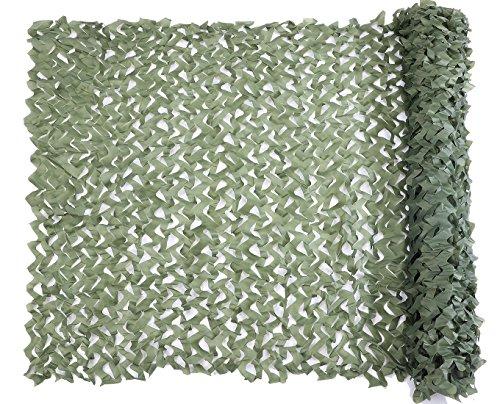 Red de Camuflaje Malla de Protección Redes 1.5 x 6M Verde Militar Ejército Táctico sin Cuerda de Red para el Sol Sombra Decoración Caza Ciegos Disparos Green