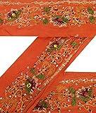 Weinlese-Sari Border Antike Gebrauchte gestickte indische