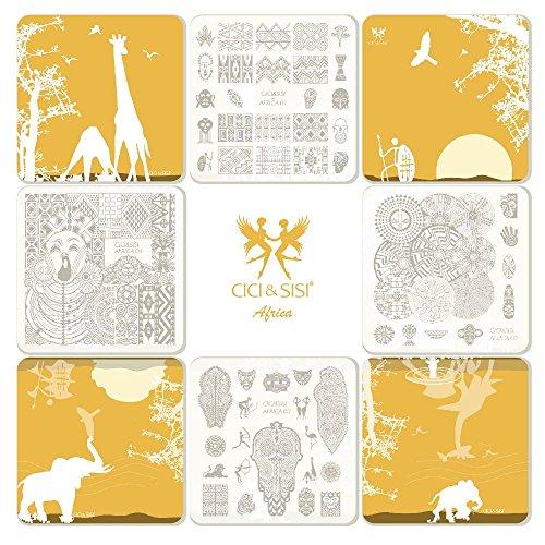 Cici & Sisi Nail Art Stamping Piatti Kit Holiday Africa usato  Spedito ovunque in Italia