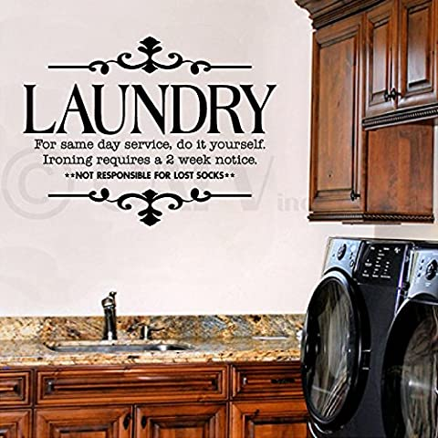 Laundry for same day service do it yourself vinyl lettering wall sayings home décor sticker quote decal words