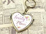 Schlüsselanhänger mit Spiegel als Herz in antik bronzefarben Muttertag Geschenk 1 Stück von Vintageparts, DIY-Schmuck, Sass&Belle, Muttertagsgeschenk, Lovely Mum, Mama