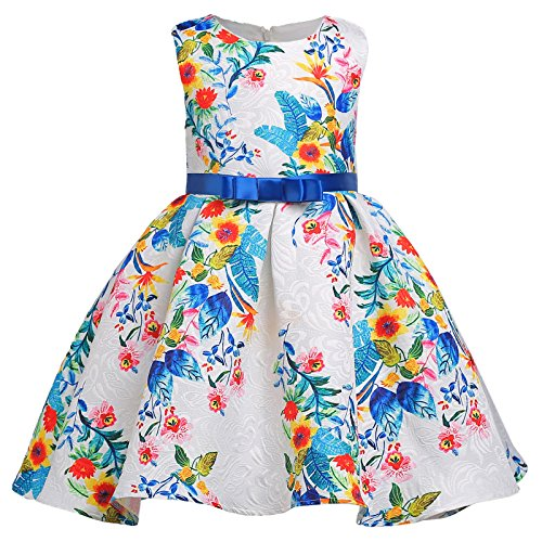 GRACE KARIN Girl Sleeveless Crew Neck Party Dress