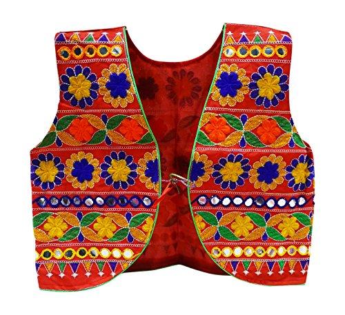 PEEGLI Traditionelle Rajasthani Jacke Frauen Shrug Koti Banjara Bestickt Choli (Baumwolle Choli)
