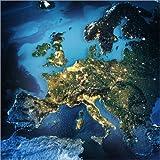 Posterlounge Forex-Platte 70 x 70 cm: Europa aus Dem All, NASA 3D-Rendering von Editors Choice