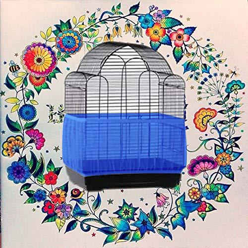 TianranRT Vogel Käfig Samen Catcher Samen Wache Papagei Masche Netz Abdeckung dehnbar Schale (Blau,M) - Koffer Abdeckung Dehnbare