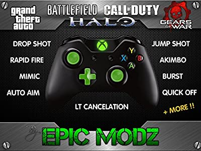 Epic Modz Xbox ONE Custom Green Modded Wireless Controller Cod Mod 3.5mm