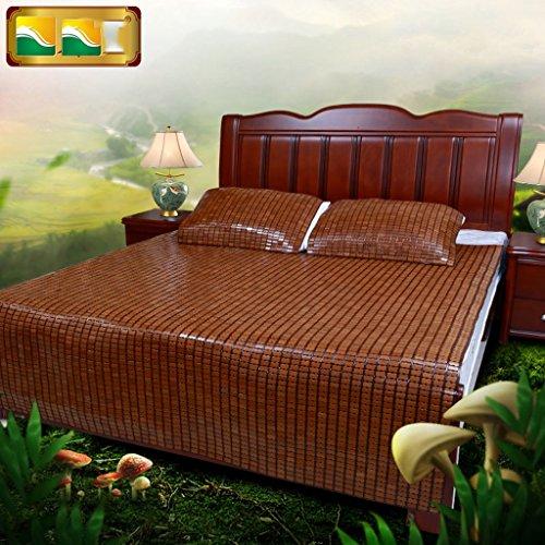 Von Simmons Bett (uus Natürliche Umwelt Sommer Matte 1,5m1 8 Meter Einzel- / Doppelbett Bett Simmons Matratze Bett falten Sommer Cool Bambusmatte ( Farbe : B , größe : 1.5m ))