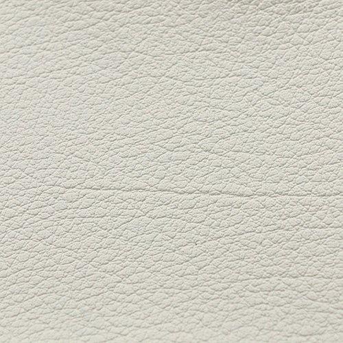 Kunst-Leder RESTPOSTEN - 140 cm breit - Farbe weiß, mittel-grau, dunkel-grau, schwarz, Farbe:weiß (Polsterung Stoff Schwarz Und Weiß)