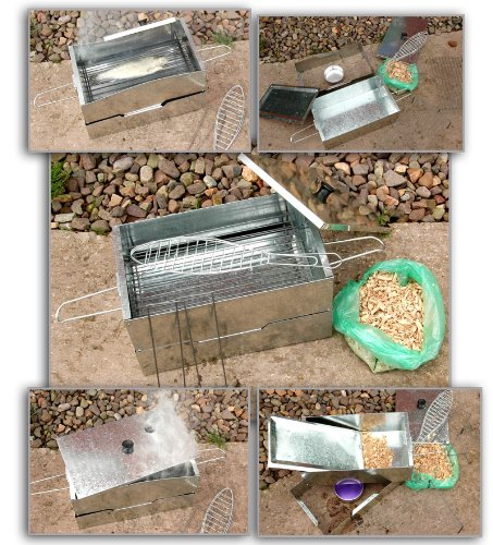 NEW FISH MEAT HOT SMOKER COOKER WITH FREE WOOD CHIPS