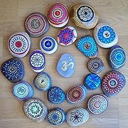 Mandala sobre piedra, piezas únicas