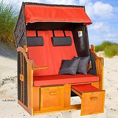 Strandkorb BALTIC-R TER, Ostsee Serie, anthrazit, terracotta, mit Hülle, von LILIMO ® von LILIMO ® - Gartenmöbel von Du und Dein Garten