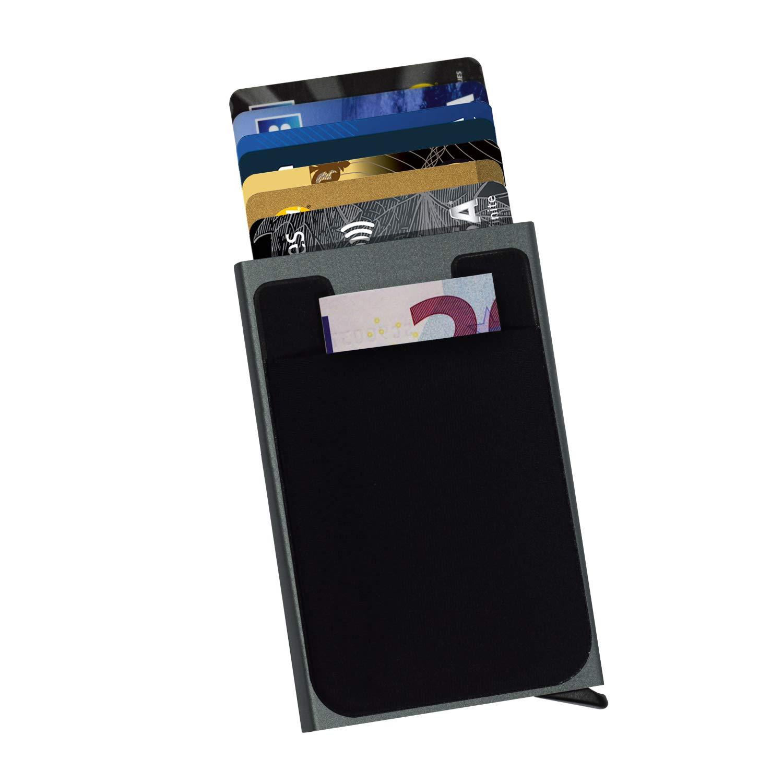 b14bb85d25fb43 Porta Carta di Credito con tasca per biglietto - Bloccaggio e ...