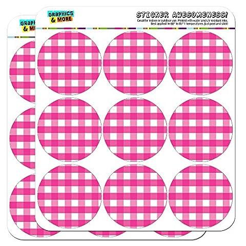 Vichy Rose de Pique-Nique d'anniversaire Western 5cm (5,1cm) Stickers Scrapbooking