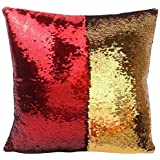 Muse Creation Decorative Magic Cushion Cover 16*16 Inch In Velvet - Home Décor Pillow Shams - Red And Gold Color Sofa Comfy Cushion, Personalized Cushion,car Cushion, Customized Gift,personalized Gift