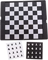 Non-brand Mini Magnetic Travel Chess Wallet Set Toy Adult Kids Gift for Travel Professional Game